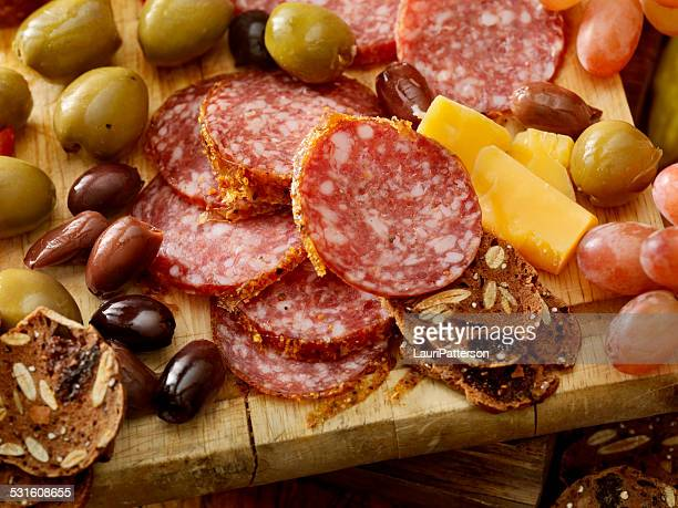 charcuterie board - green olive stock photos and pictures
