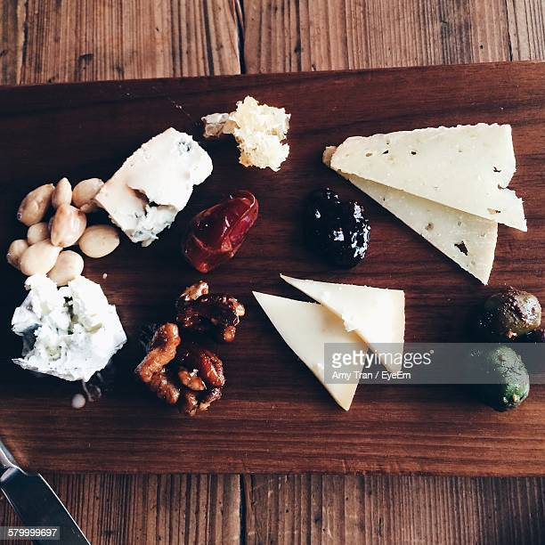 Charcuterie Board With Cheese And Various Food