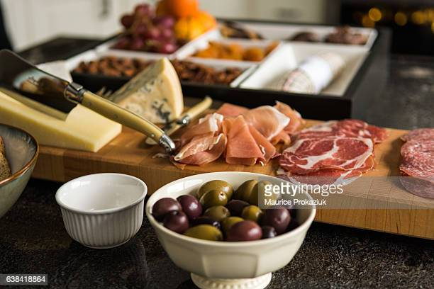 charcuterie for lunch - salumeria stock photos and pictures