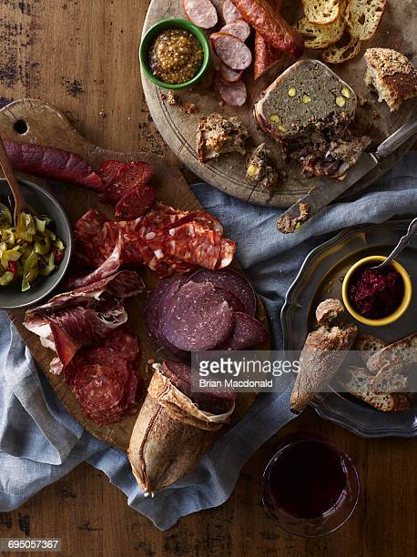 charcuterie - salumeria stock photos and pictures