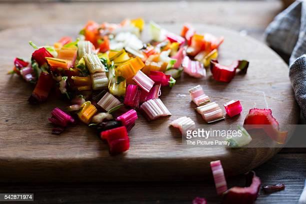 Chard vegetable stems