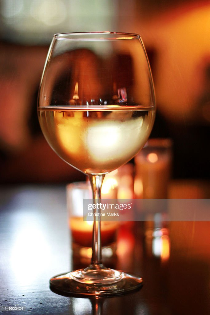 Chardonnay at dusk : Stock Photo