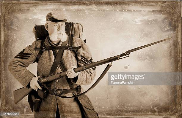 charge! american civil war confederate soldier. - bayonet stock pictures, royalty-free photos & images
