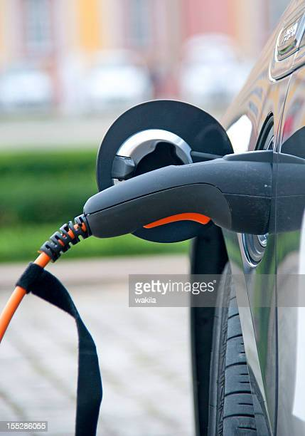 charge black electric car