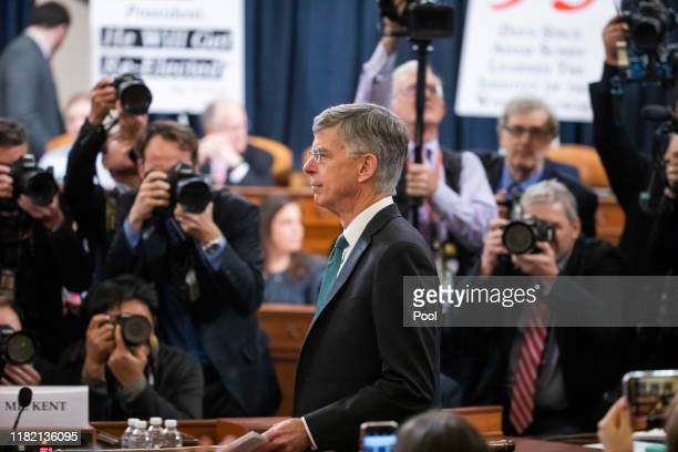 Charge d'Affaires at the US embassy in Ukraine Bill Taylor prepares to testify before the House Permanent Select Committee on Intelligence hearing on...