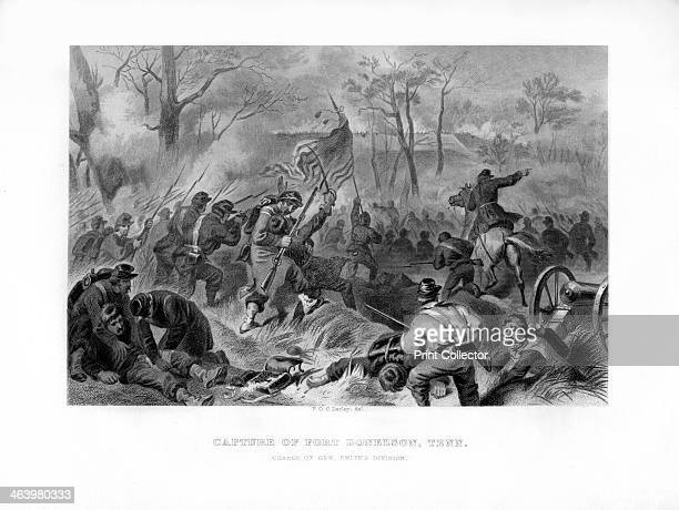 Charge of General Smith's Division Capture of Fort Donelson Tennessee 1862 BrigadierGeneral Charles Ferguson Smith's Union troops on the attack...