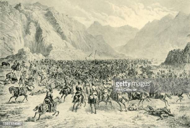 Charge of Punjab Cavalry in the Second Action Near Charasia on 24th April 1880' Incident during the Second Afghan War British and Indian troops...