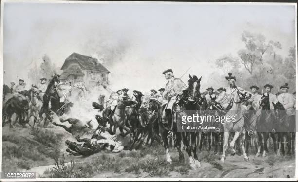 Charge of the Austrian Dragoons at the battle of Kolin 18th June 1757 where the Prussians under Frederick the Great were totally defeated Seven...