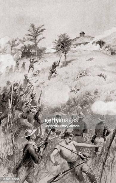 Charge of the Rough Riders at The Battle of San Juan Hill near Santiago de Cuba Cuba July 1 aka the battle for the San Juan Heights decisive battle...