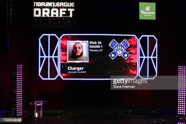 Charger gets picked during the NBA 2K League Draft on February 22 2020 at Terminal 5 in New York New York NOTE TO USER User expressly acknowledges...