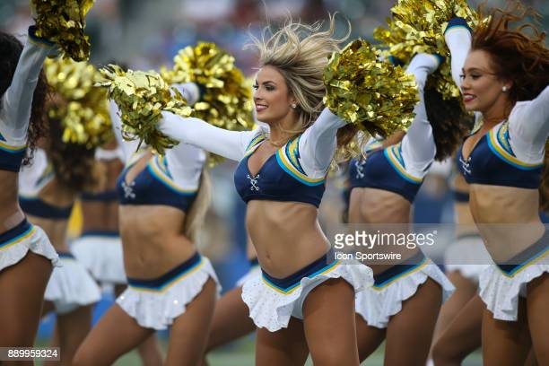 Chargers cheerleader during a NFL game between the Washington Redskins and the Los Angeles Chargers on December 10 2017 at the StubHub Center in...
