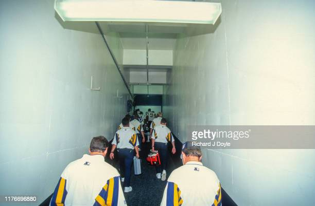 S D Chargers Team Tunnel San Francisco 49ers 17 vs San Diego Chargers 6 at Jack Murphy Stadium in San Diego California