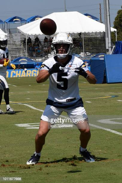 Chargers Wide Receiver Nelson Spruce during the Los Angeles Chargers Training Camp on August 03 2018 at the Jack Hammett Sports Complex in Costa Mesa...