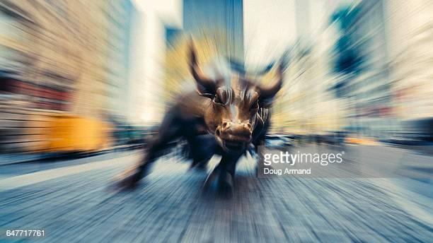 Charging Bull statue near Wall Street
