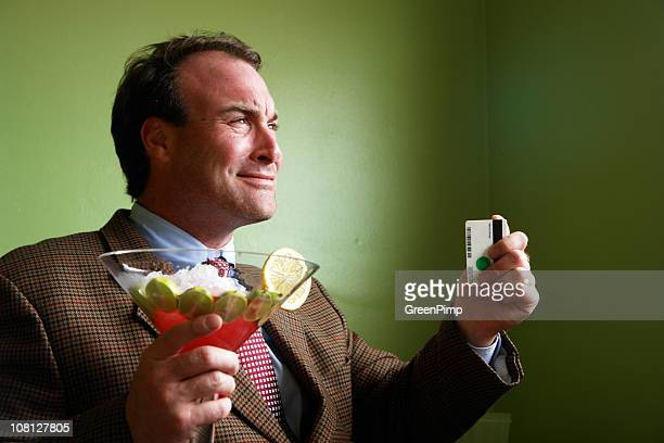 Charging Cosmopolitan Cocktail Drink Man