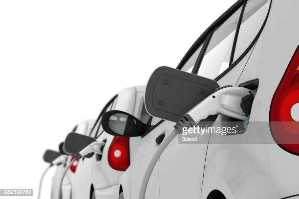 charging of electric cars - electric vehicle charging station stock photos and pictures