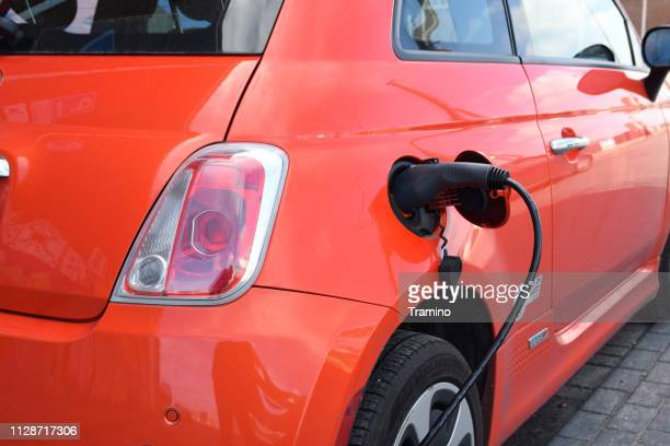 Charging process on the car electric charging point
