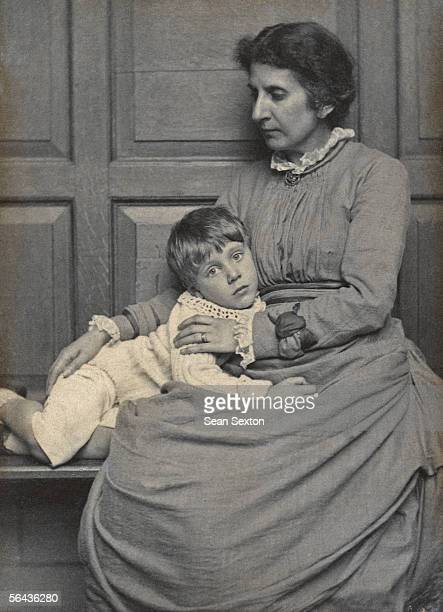 Chariclea Anthea Euterpe Ionides who married Edward George Dannreuther in 1871 with their son Hubert Edward Dannreuther circa 1885