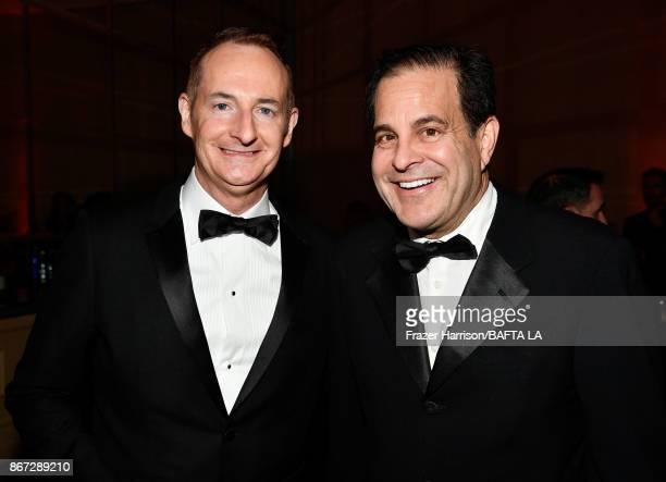Chariman of the Board of BAFTA Los Angeles Kiernan Breen and Ted Gagliano attend the 2017 AMD British Academy Britannia Awards Presented by American...