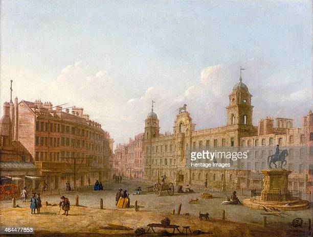 'Charing Cross and Northumberland House' late 18th century The statue by Hubert le Sueur of Charles I on horseback right is still there today facing...