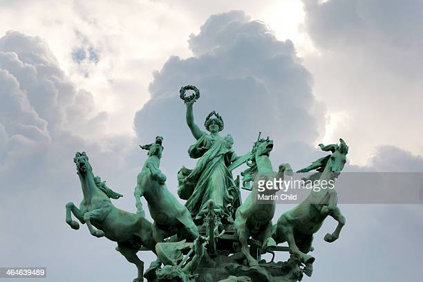 Chariot and four horses