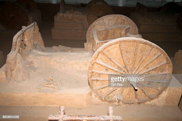 Chariot in chariot pit from the Shang Dynasty Yin Ruins Museum Anyang Henan Province China