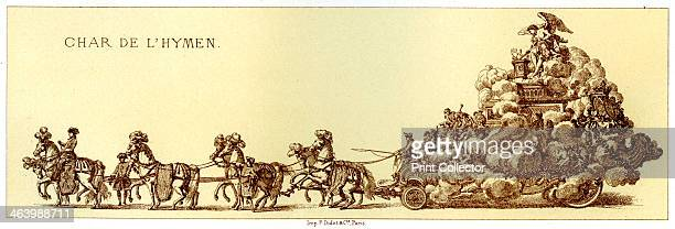 Chariot Of The Hymen A horsedrawn vehicle possibly part of the procession to celebrate the marriage of the Dauphin of France to MarieJosephe de Saxe...