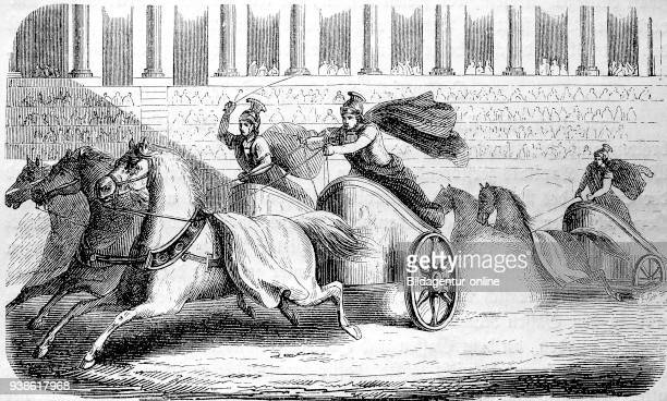 Chariot races Chariot racing in the circus of ancient Rome 100BC the story of the ancient Rome roman Empire Italy