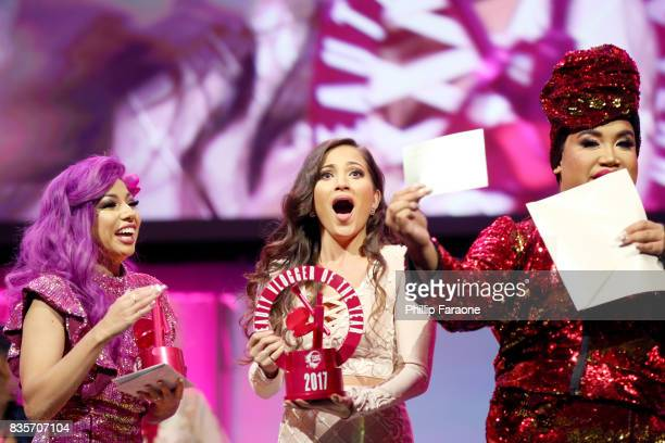 Charis Amber Lincoln, Jessica Kalil, and Patrick Starrr at the 2017 NYX Professional Makeup FACE Awards at The Shrine Auditorium on August 19, 2017...