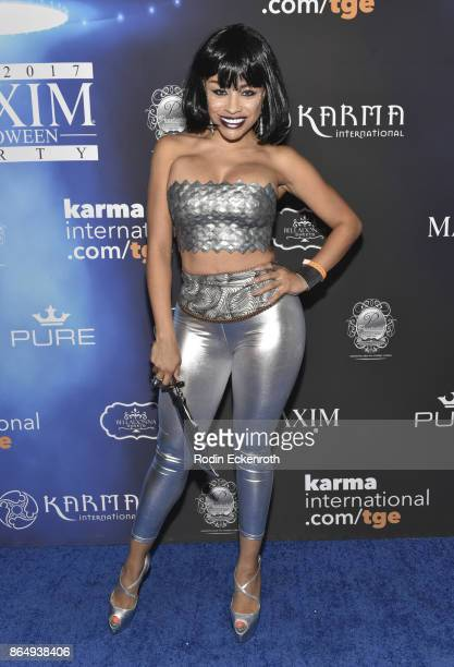 Charise Mills arrives at the 2017 MAXIM Halloween Party at LA Center Studios on October 21, 2017 in Los Angeles, California.