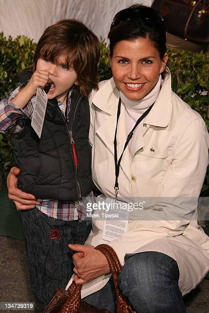 Charisma Carpenter and her son Donovan Charles Hardy