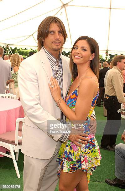 Charisma Carpenter and husband Damian Hardy at the Playmate of the Year 2004 presentation Carmella DeCesare was named Playboy's Playmate of the Year...