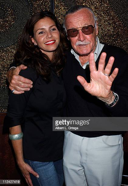 Charisma Carpenter and Stan Lee during 36th Annual ComicCon International Film Roman/ New Arc Anchor Bay and CFQ Media Hosts Showtime's 'Masters of...