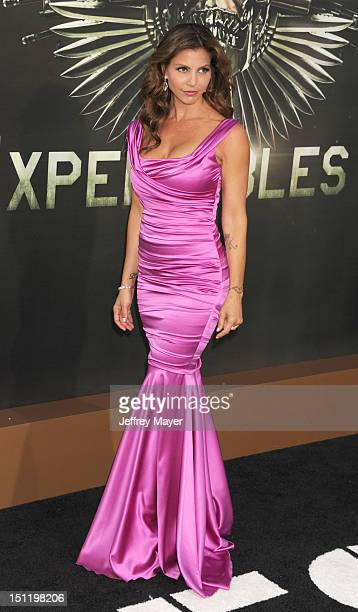 Charisma Carpenter arrives at The Expendables 2 Los Angeles premiere at Grauman's Chinese Theatre on August 15 2012 in Hollywood California