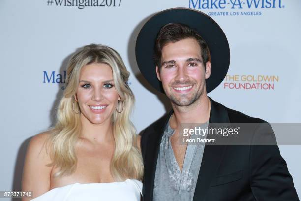Charissa Thompson and James Maslow attends the MakeAWish Greater Los Angeles 2017 Wish Gala at Hollywood Palladium on November 9 2017 in Los Angeles...
