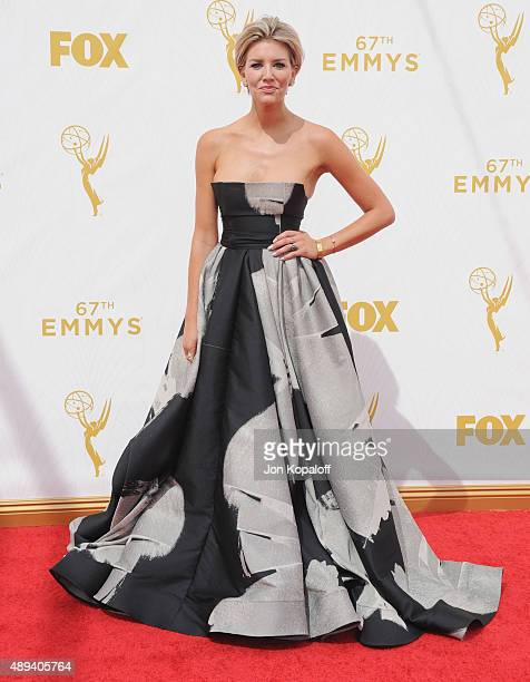 Charissa Thompson arrives at the 67th Annual Primetime Emmy Awards at Microsoft Theater on September 20 2015 in Los Angeles California