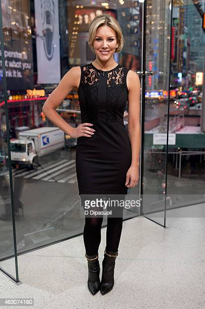 Charissa Thompson hosts Extra at their New York studios at HM in Times Square on February 9 2015 in New York City