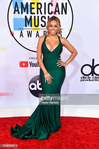 Charisse Mills attends the 2018 American Music Awards at Microsoft Theater on October 9 2018 in Los Angeles California