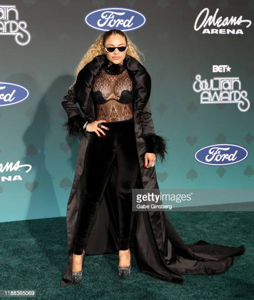 Charisse Mills attends the 2019 Soul Train Awards at the Orleans Arena on November 17 2019 in Las Vegas Nevada
