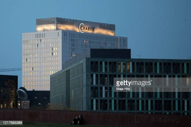Charite hospital is seen during twilight on April 07 2020 in Berlin Germany The number of confirmed coronavirus cases in Germany has surpassed 100000...