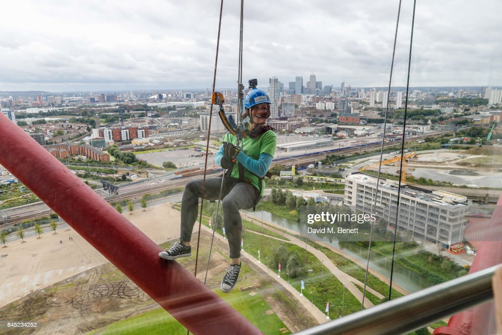 Lilah Parsons Abseils Down The ArcelorMittal Orbit To Benefit The Children's Air Ambulance