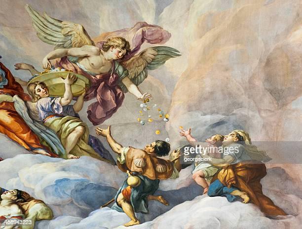 charity-kirche fresco-detailarbeit - barock stock-fotos und bilder