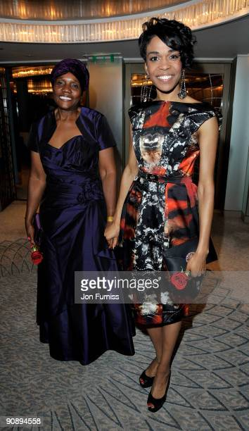 Charity founder Roseline Ndoro and singer Michelle Williams attend the Ndoro Children's Charities fundraising gala at Dorchester Hotel on September...