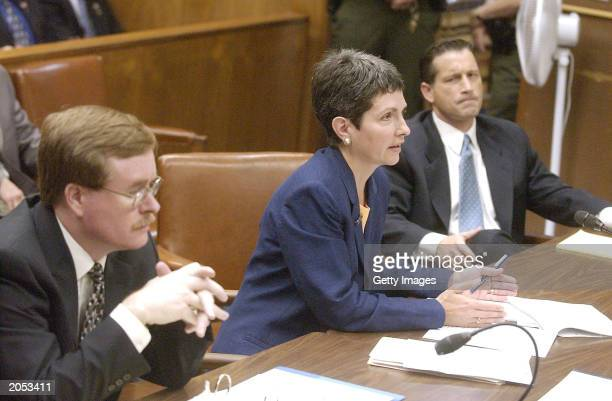 Charity Kenyon an attorney representing the Modesto Bee and four other California newspapers makes a point in Superior Court as Stanislaus County...