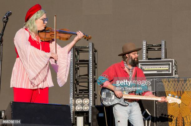 Charity Rose Thielen and Chris Zasche of The Head and the Heart perform during Voodoo Music Arts Experience at City Park on October 29 2017 in New...