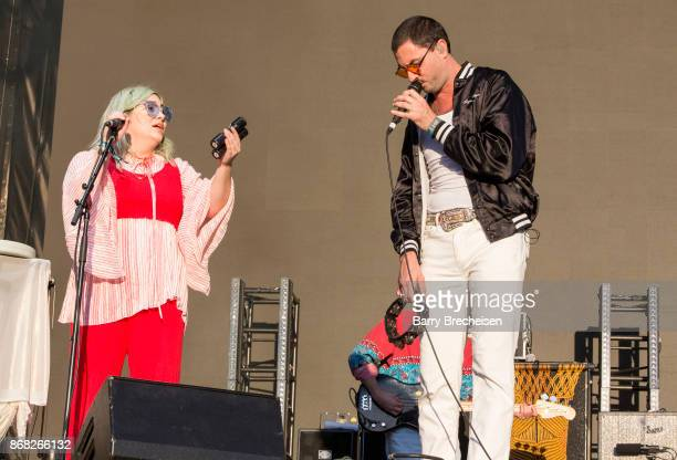 Charity Rose Thielen and Jonathan Russell of The Head and the Heart perform during Voodoo Music Arts Experience at City Park on October 29 2017 in...