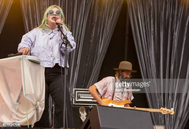 Charity Rose Thielen of The Head and the Heart performs at Grant Park on August 5 2017 in Chicago Illinois