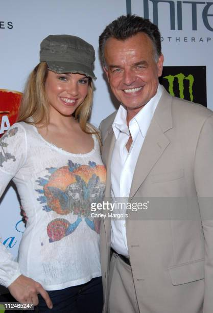 Charity Shea and Ray Wise during LIVEStyle Entertainment Presents Hollywood Life Lounge at Cabana Club at Cabana Club in Hollywood California United...