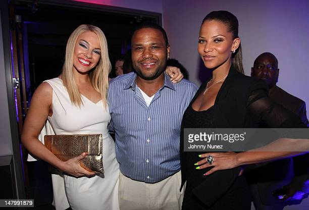 Charity Shea Anthony Anderson and Denise Vasi attend the 2012 Essence Music Festival at Louisiana Superdome on July 6 2012 in New Orleans Louisiana