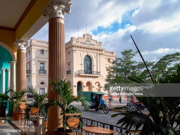 charity theater, santa clara, cuba - santa clara cuba stock pictures, royalty-free photos & images